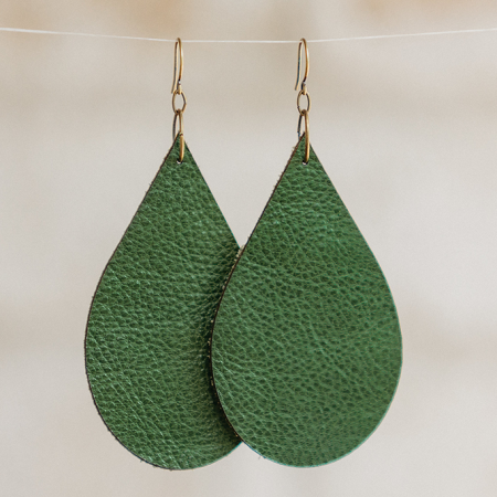 leather earrings knotty neighbor